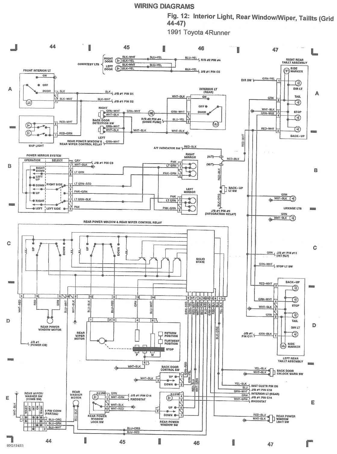 Pleasing Back Window Wiring Diagram Hilux Surf 4Runner Forum Wiring Cloud Pendufoxcilixyz