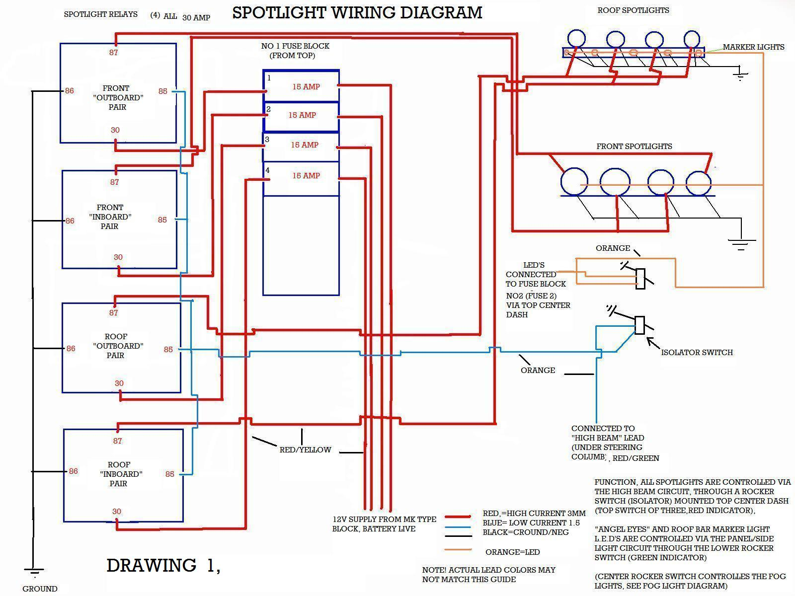 Drawings - Hilux Surf & 4Runner forum | Spotlight Wiring Diagram For Hilux |  | Hilux Surf Forum